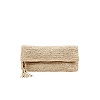 Grace Bay Raffia Clutch Natural