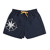 Cape Cod Boys Short Trunks in Navy