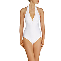 Ostuni Scallop Button Halter One Piece
