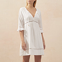 PALERMO MINI KAFTAN - WHITE