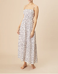 SML SQUARE NECK TIERED MAXI DRESS - SPOT