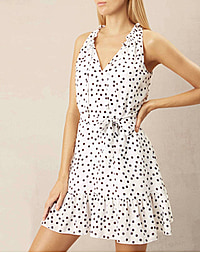 SML REFFLE NECK MINI DRESS - SPOT