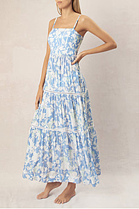 LANGKAWI SQUARE NECK TIETED MAXI DRESS