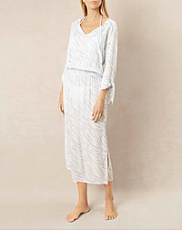 LAKE NAKURA TIE TUNIC DRESS - PRINT