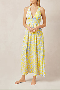CANCUN CROSS BACK MAXI DRESS PRINT