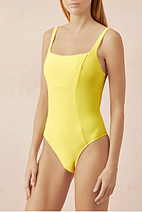 CANCUN TIE BACK ONE PIECE YELLOW