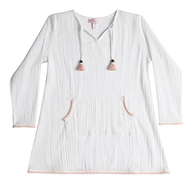 Lotte Long Sleeve Pom Pom Dress