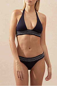 Anguilla Square Halter Padded Top