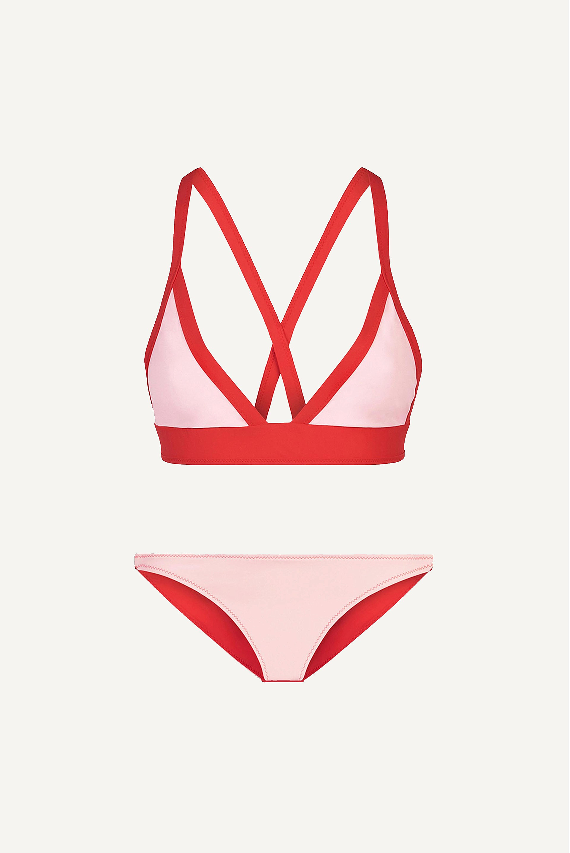 bb Reversible Cross Back Triangle Bikini