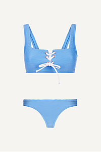 Cairns Lace Up Square Neck Bikini
