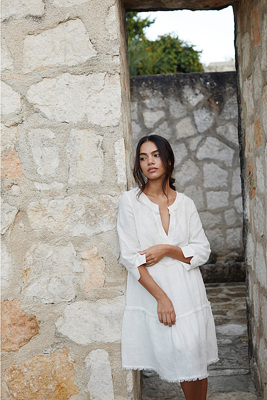 Corsica V Neck Tunic Dress