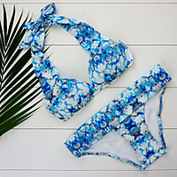 Greater Palm Springs Halter Push Up Bikini