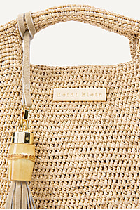 Grace Bay Large Raffia Bucket Bag in Natural