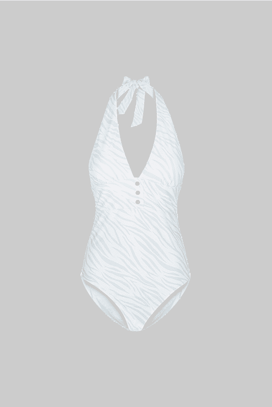 Lake Nakuru Halterneck Plunge One Piece