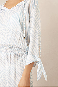 Lake Nakuru Tie Tunic Dress