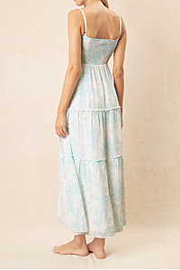 Marseille Square Neck Tiered Maxi Dress