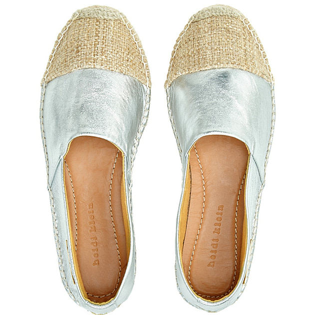 Maya Bay Espadrille Shoe in Silver