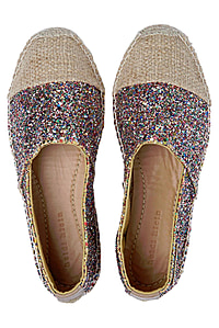 Maya Bay Espadrille Shoe in Multi Glitter