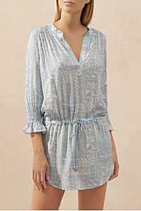 Half Moon Montego Bay Smocked Tunic