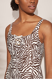Namibia Lace Up Square Neck One Piece