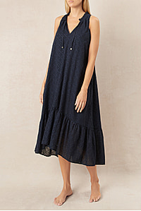 New Haven Frill Midi Dress