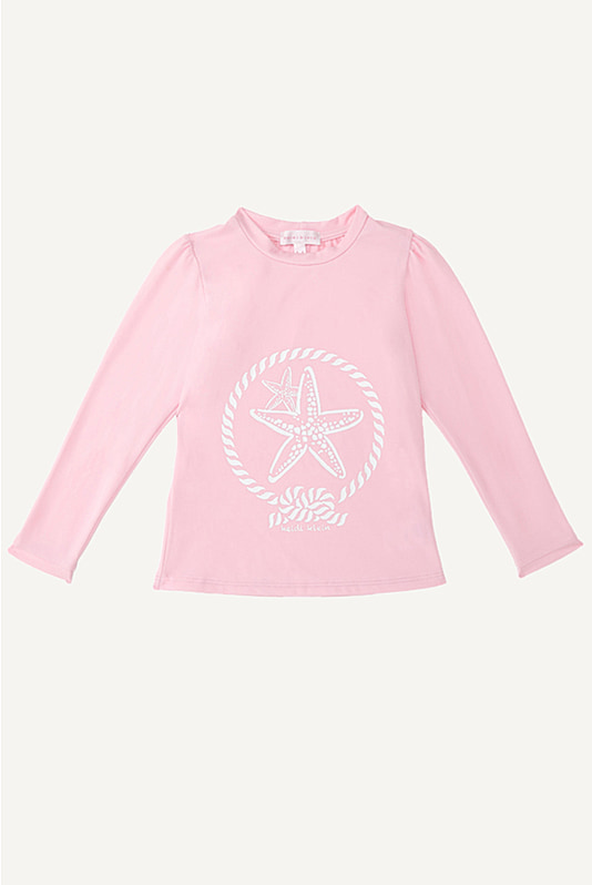 Phoebe Puff Sleeve Girls Rash Vest