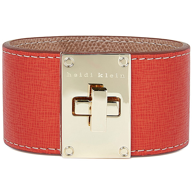 Leather Cuff Bracelet - Red