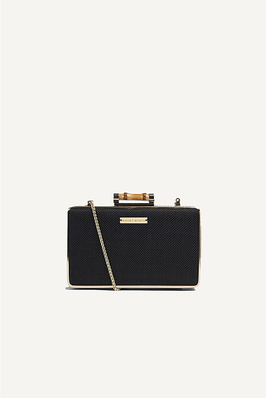 Savannah Bay Cross Body Clutch Bag Black