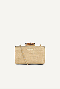 Savannah Bay Cross Body Clutch Bag Natural