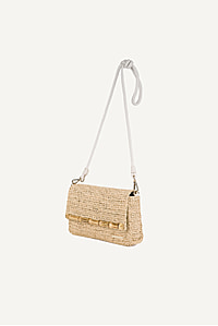 Savannah Bay Raffia Clasp Clutch