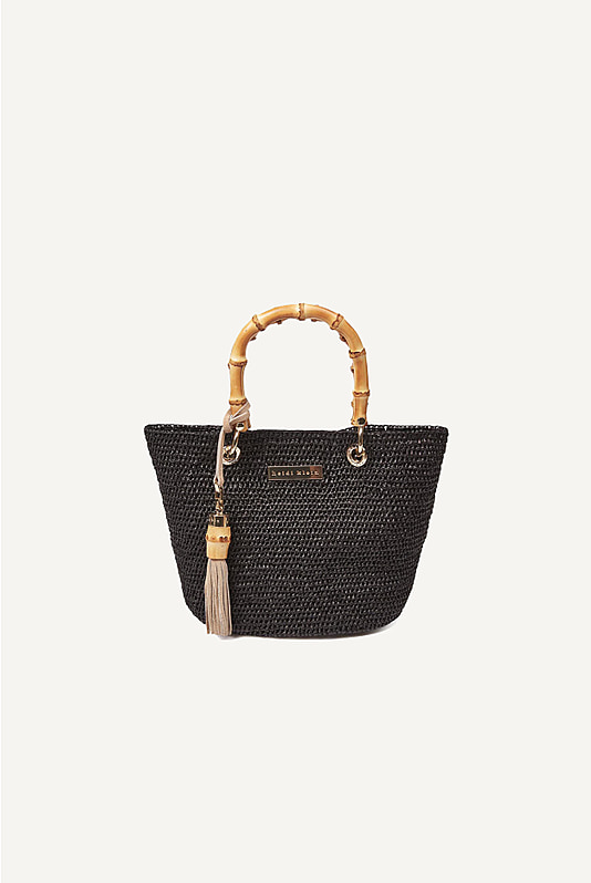 Savannah Bay Super Mini Bamboo Bag in Black
