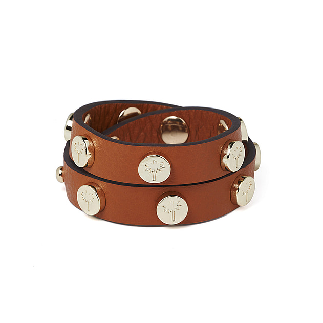 Double Stud Bracelet - Tan