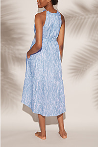 Cape Verde Frill Midi Dress
