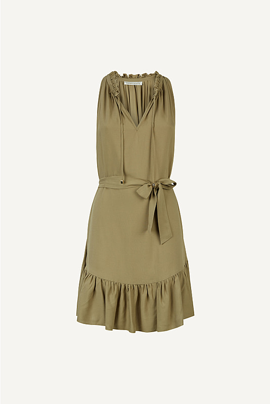 Venice Ruffle Neck Dress