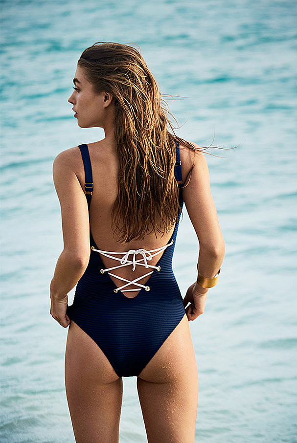 Carlisle Bay Lace Back One Piece